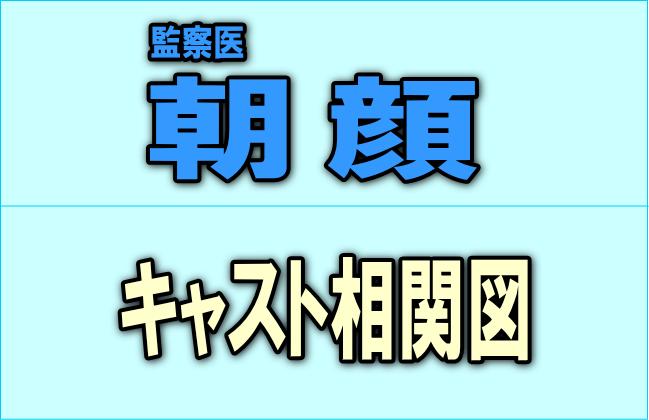 ドラマ『監察医 朝顔』のキャスト相関図!原作や出演者、登場人物まとめ