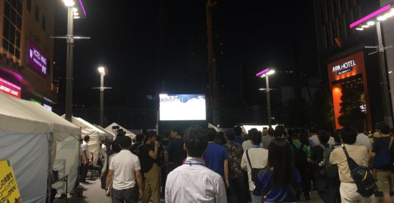 パブリックビューイング歌舞伎町