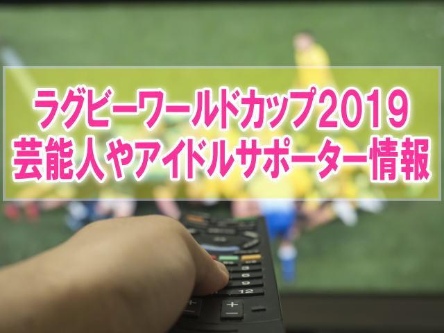 ラグビーワールドカップ2019の芸能人やアイドルサポーターは誰?テレビ出演と活動内容