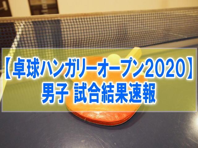 卓球ハンガリーオープン2020男子結果速報!張本智和、水谷隼、丹羽孝希の成績と順位